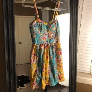 EUC Band of Gypsies Floral Dress